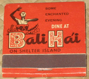 Front of matchbook from Bali Hai Restaurant in San Diego