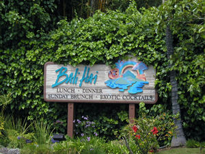 Sign for Bali Hai Restaurant in San Diego