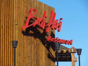 Logo signage at Bali Hai Restaurant in San Diego