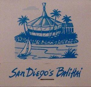 Matchbook from Bali Hai Restaurant in San Diego