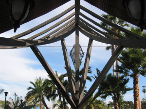 Underneath the A-frame at Humphrey's Half Moon Inn in San Diego