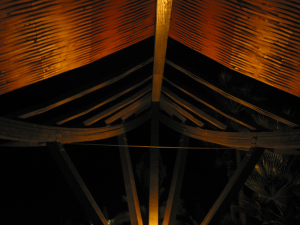 Beneath the A-frame at Humphrey's Half Moon Inn in San Diego