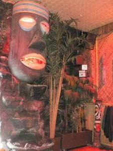 Large tiki at the Bamboo Hut in San Francisco
