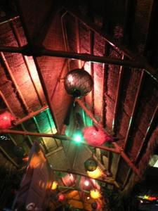 Pufferfish lamps, floats and other decor at Bamboo Hut in San Francisco