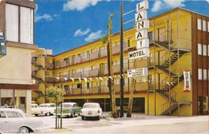 Early postcard from Lanai Motel in San Francisco