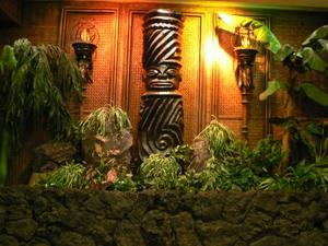 Tiki diorama near elevators at Tonga Room in San Francisco