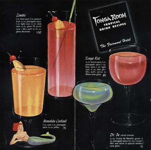 Recipes booklet from Tonga Room in San Francisco