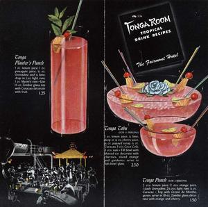 Recipe booklet from Tonga Room in San Francisco