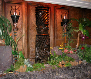 Tiki near the elevators to the Tonga Room