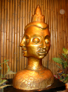 Bust near the entrance to the Tonga Room
