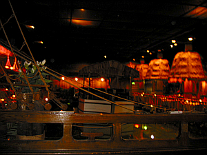 Pool with ship-shaped stage at the center of the Tonga Room