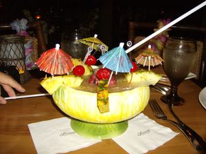Bowl drink at Tonga Room in San Francisco