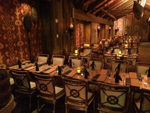 A dining room at Tonga Room in San Francisco