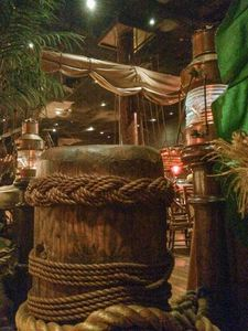 Nautical theming in the bar at Tonga Room in San Francisco