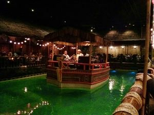 Band in the lagoon at Tonga Room in San Francisco