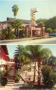 Postcard from Polynesian Motel in Santa Barbara