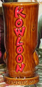 Back of a tiki mug from Kowloon in Saugus