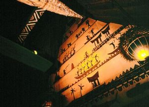 North wall roof detail in the bar area at Trader Vic's in Scottsdale