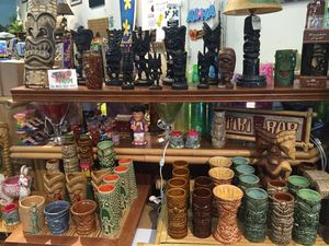 Tiki mugs at Hawai'i General Store in Seattle