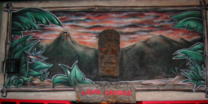 Mural above the entrance to the Lava Lounge