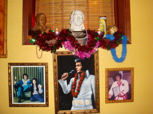 Elvis shrine at Luau Polynesian Lounge in Seattle