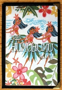 Cover of the Humuhumu Room menu