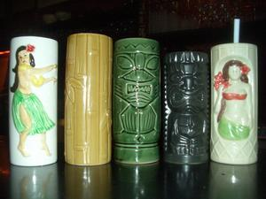 Mugs used for serving drinks at Jade Island in Staten Island