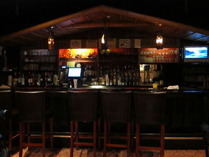 The bar at Jade Island in Staten Island