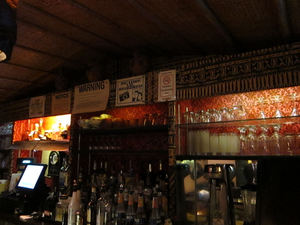 Back of the bar at Jade Island in Staten Island