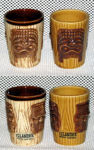 Two styles of narrow 3-face mugs from The Islander in Stockton