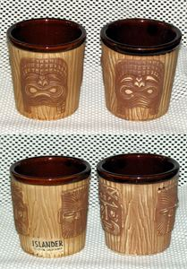 3-face bucket tiki mugs from The Islander in Stockton
