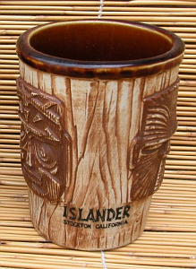 Tall, thin version of the 3-face bucket mug from the Islander in Stockton