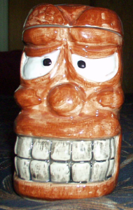 Suffering Tiki mug from the Islander in Stockton