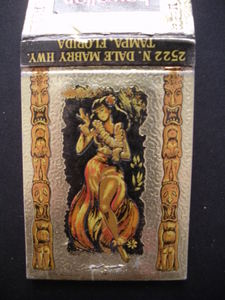 Matchbook from Hawaiian Village in Tampa