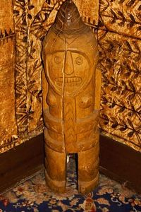 Carving near the entrance at Trader Vic's in Tokyo