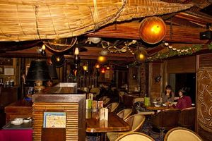 Seating area near the bar at Trader Vic's in Tokyo