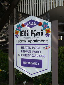 Sign for Eli Kai Apartments in Torrance