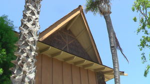 A-frame roof at Tiki Aloha Apartments in Torrance