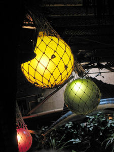 Glass float lights at Kon Tiki Lounge in Tucson