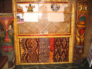 Display case near front entrance at Kon Tiki Lounge in Tucson