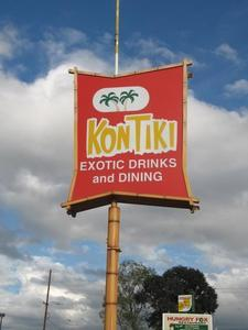 Sign for the Kon Tiki Lounge in Tucson