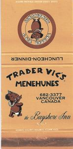 Matchbook from Trader Vic's in Vancouver