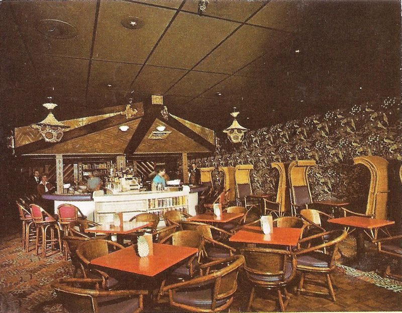 The Bar Area Seen In A Postcard From Honolulu Restaurant Westborough Ma