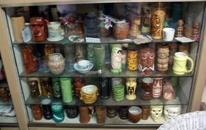 Mugs on display at Oceanic Arts
