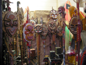 Masks for sale at Oceanic Arts