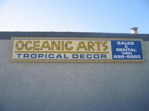 Sign at Oceanic Arts