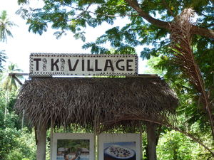 Sign outside Tiki Village Theater in Moorea