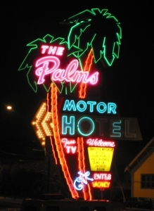The Palms neon sign