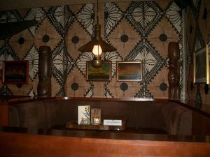 Seating in the bar at Trader Vic's in Berlin