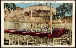 Linen postcard from Hawaiian Cottage